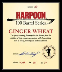 Harpoon Ginger Wheat Beer